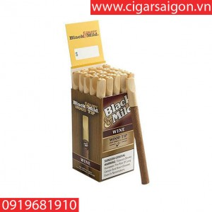 Cigar Black mild-USA wine box 25 sticks wood tip( xì gà sữa black mild wine hộp 25 điếu)