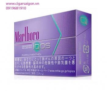 Thuốc lá điện tử Marlboro IQOS Purple Menthol_vị bạc hà vừa cùng hương hoa quả nhẹ