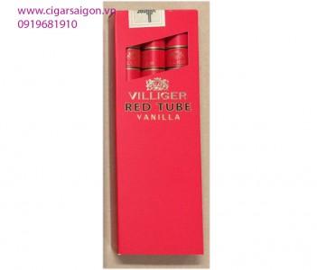 Xì Gà Villiger Red Tube Vanilla-Hộp 3 điếu